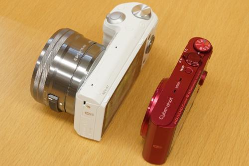 超・コンパクトなデジタルカメラと比較